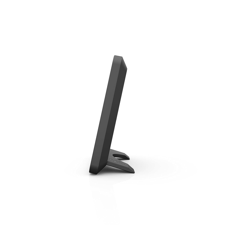 pr/äzises digitales Messger/ät f/ür Luftfeuchtigkeit und Temperatur schwarz Stadler Form Hygrometer Selina little