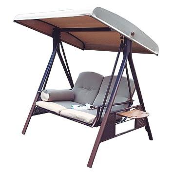 Amazon.com : Abba Patio 2-Person Outdoor Porch Swing Hammock with ...
