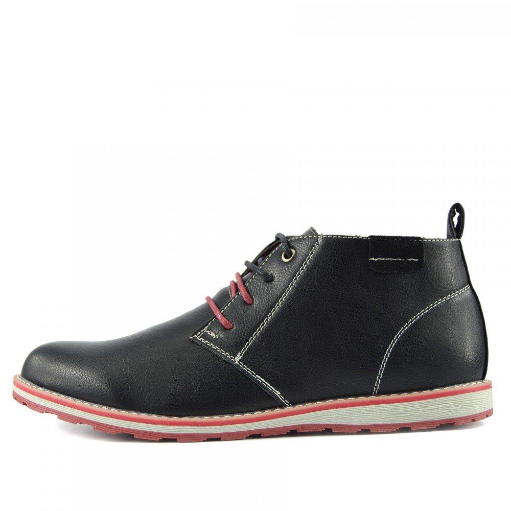 Kick Footwear - Neue Herren Wildleder Lauml;ssige Schnuuml;rschuhe Mode-Stiefel Knouml;chel Desert Schuhe  42 EU|Schwarz
