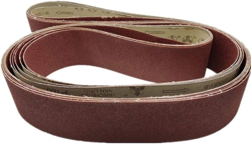TGACD Sand Belt 10 Pieces 2100 * 50mm Abrasive Belt Hard Cloth Ring Sanding Belt Woodworking Metal polishing Belt Sanding Belt Machine red Sanding Belt,60 150