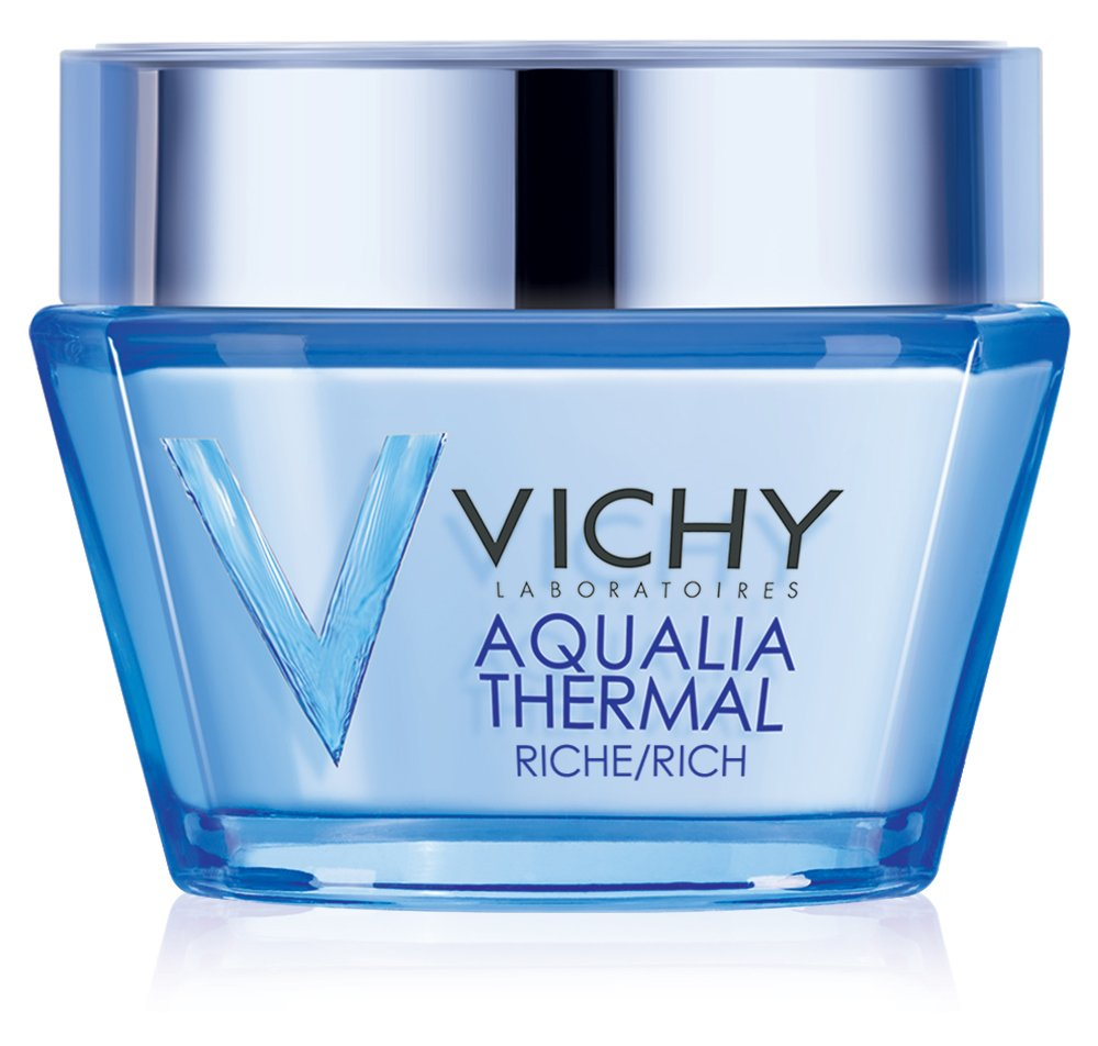 Vichy Aqualia Thermal Rich Cream 48 Hour Facial Moisturizer with Hyaluronic Acid for Dry Skin