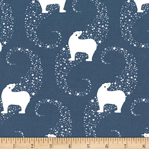 Michael Miller 0575890 Winter Tails Polar Celestial Fabric by The Yard