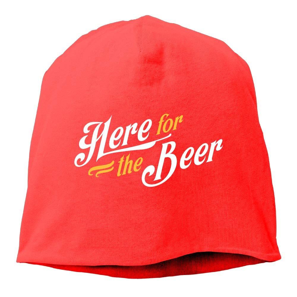 Janeither Headscarf Here for The Beer Word Hip-Hop Knitted Hat for Mens Womens Fashion Beanie Cap