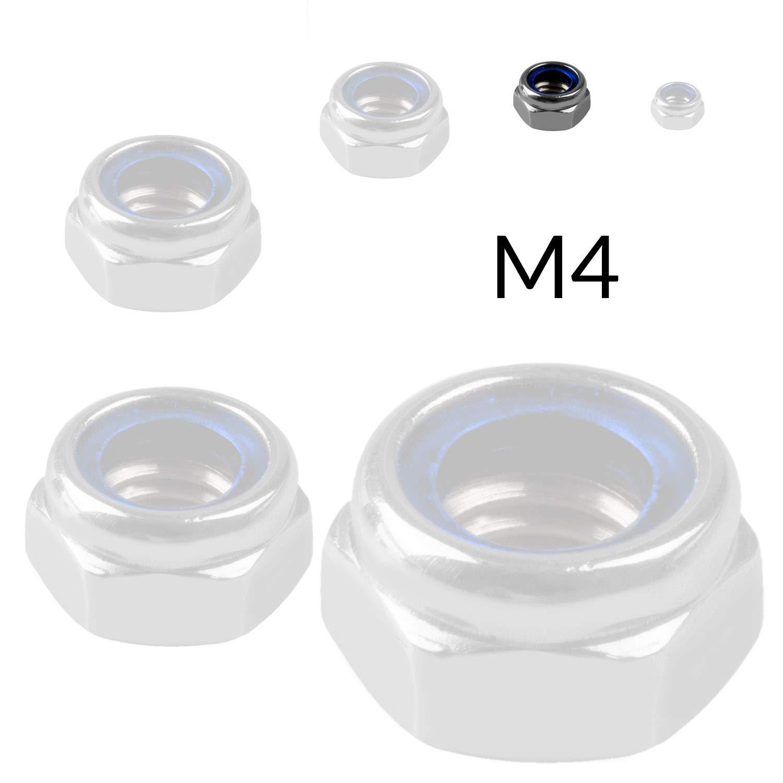 50 x EDELSTAHL Sicherungsmutter M6 Mutter selbstsichernd SECHSKANTMUTTERN M3 bis M10 V2A VA A2 DIN 985