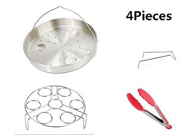 Acero inoxidable Steamer Cesta, vegetales vapor rack soporte, huevo Steamer rack y presión Cocina
