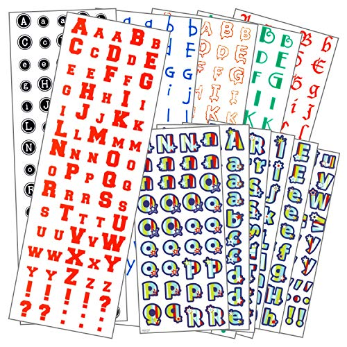 - Letters Stickers Mega Pack 12 Sheets of Alphabet Letter Stickers