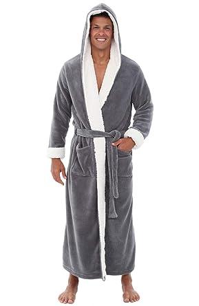 f8211f300d Alexander Del Rossa Mens Fleece Robe