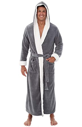 Alexander Del Rossa Mens Fleece Robe 32ec07169