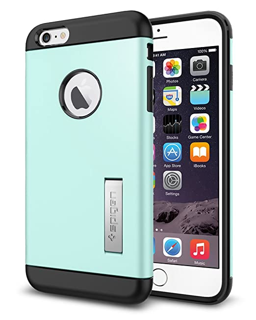 more photos 706a1 b74f3 Spigen Slim Armor iPhone 6 Plus Case with Kickstand and Air Cushion  Technology and Hybrid Drop Protection for iPhone 6S Plus / iPhone 6 Plus -  S Mint