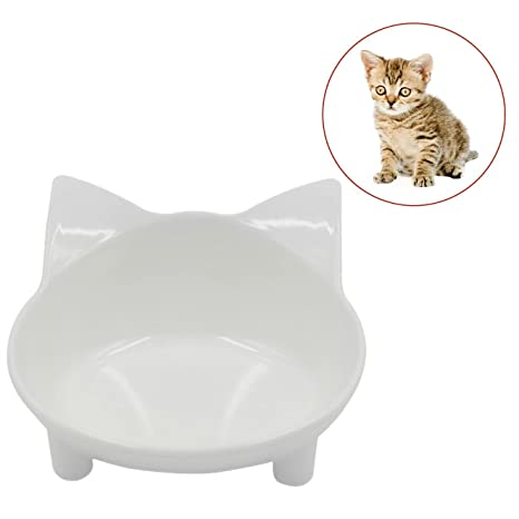 Legendog Cuenco de Comida para Gatos Tazón de Alimentación de Mascotas Melamina Antideslizante Cat Water Bowl