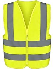 Neiko® Safety Vest Front Zipper | High Visibility ANSI/SEA Standard – Size XL