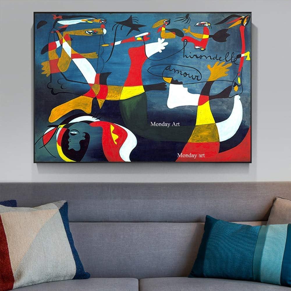 ZHUAIBA Tamaño Grande 100% Pintado A Mano Picasso Famoso Pintura Al Óleo Abstracta Decoración del Hogar Pared Cuadros para Vivir Regalo de la Pintura de Pared 30x47