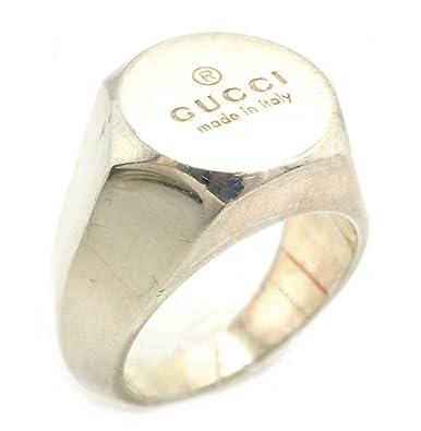 4832a9128b38 Amazon | [グッチ] GUCCI シルバーリング 指輪 ロゴ 12号 #12 SV925 ...
