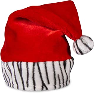product image for Merry Christmas Holiday Animal Zebra Red Santa Claus Hat Party Theme Costume