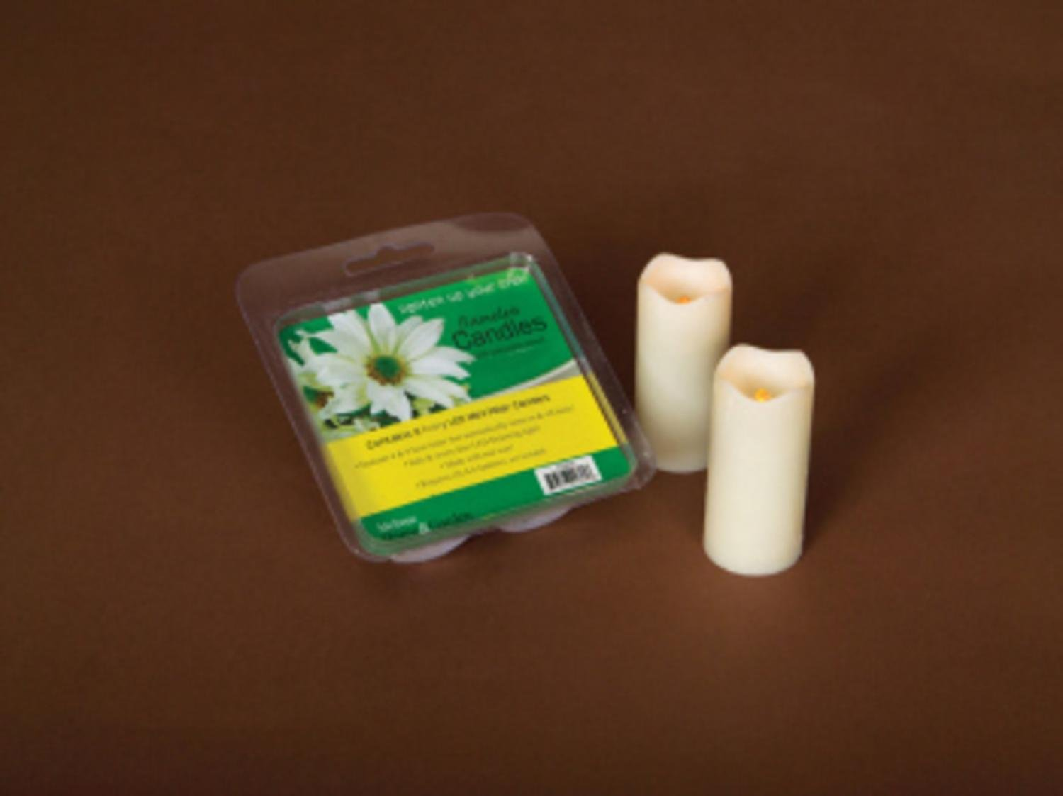 Pack of 12 Ivory Flameless LED Mini Christmas Pillar Candles w/Timers 3''