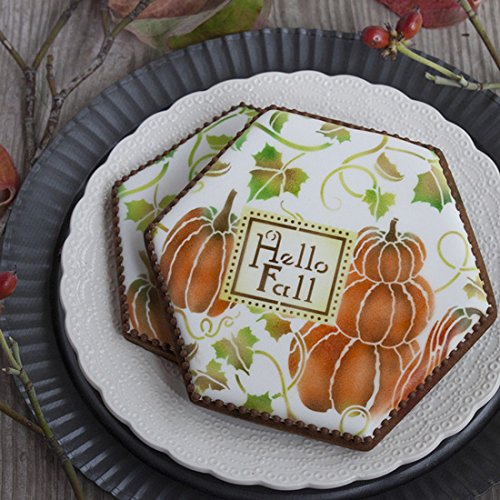Pumpkin Patch Prettier Plaques Cookie Stencil Set by Julia Usher -