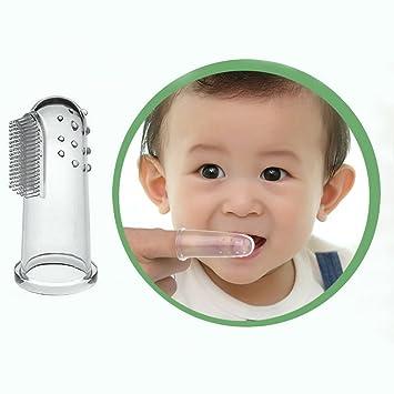 Bebé Kid silicona suave dedo cepillo de dientes & Encías masajeador cepillo de dientes limpios