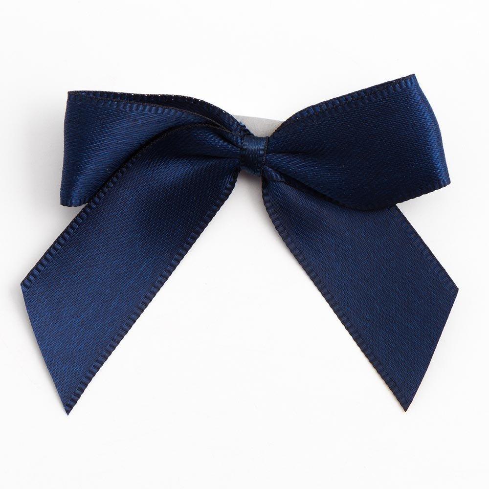 5cm Satin Bows (Self Adhesive) - - Navy Blue by Italian Options B01G269ZTW