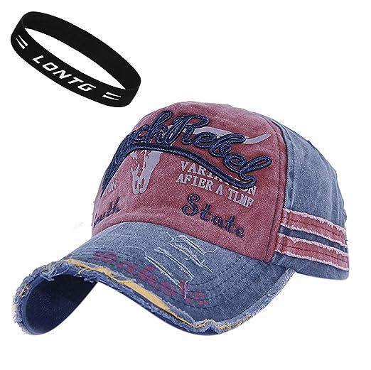 Unisex Gorra de béisbol Vintage Jeans sombrero de golf sol playa algodón ajustable Gorra Visera anti-UV protección solar cap hip-hop Mode snapback Sport ...