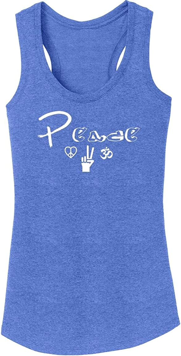 Comical Shirt Ladies Peace Graphic Tee Tri-Blend Tank Top