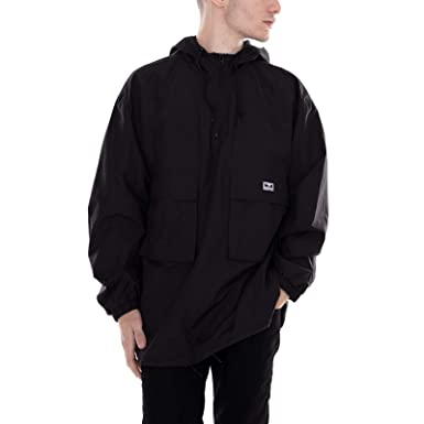Obey - Chaqueta - Lock Down Anorak - Negro (L): Amazon.es ...