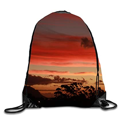 Sunset Glow Drawstring Backpack Beam Mouth Yoga Sackpack ...
