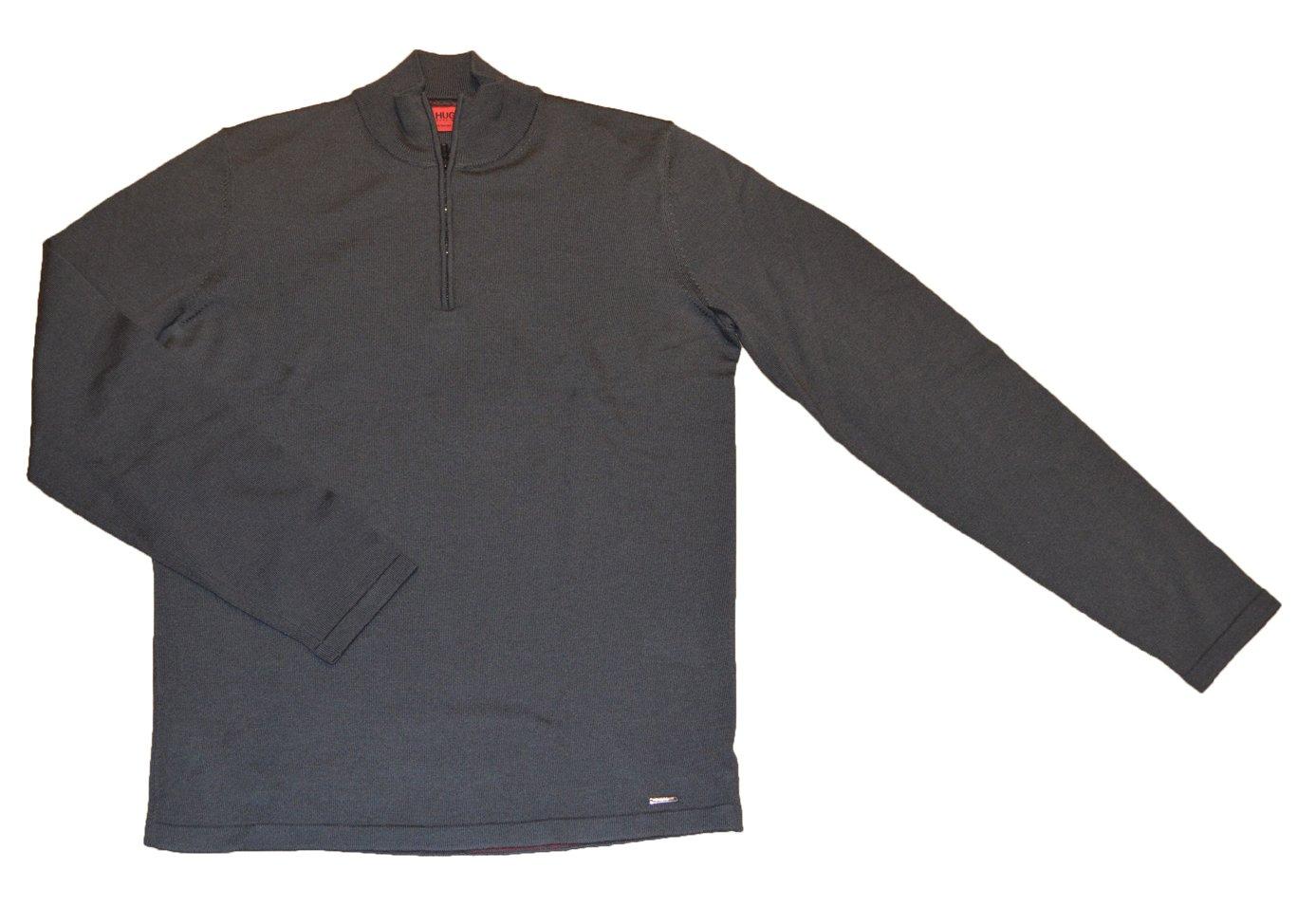 Hugo Boss San Gottardo 1 Extra Fine Merino Wool Half Zip Knitwear (Green (Dark Green 306), Medium)