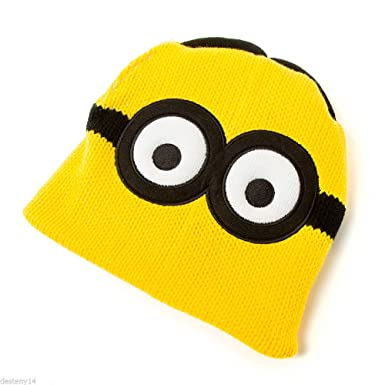 Amazon Despicable Me Minion Reversible Beanie Knit Hat Stuart
