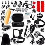 Zookki Accessories Kit for GoPro Hero 5 4 3+ 3 2 1 Black Silver SJ4000 SJ5000 SJ6000, Sports Camera Accessories Set for Xiaomi Yi/WiMiUS/Lightdow/DBPOWER/ dOvOb (Electronics)