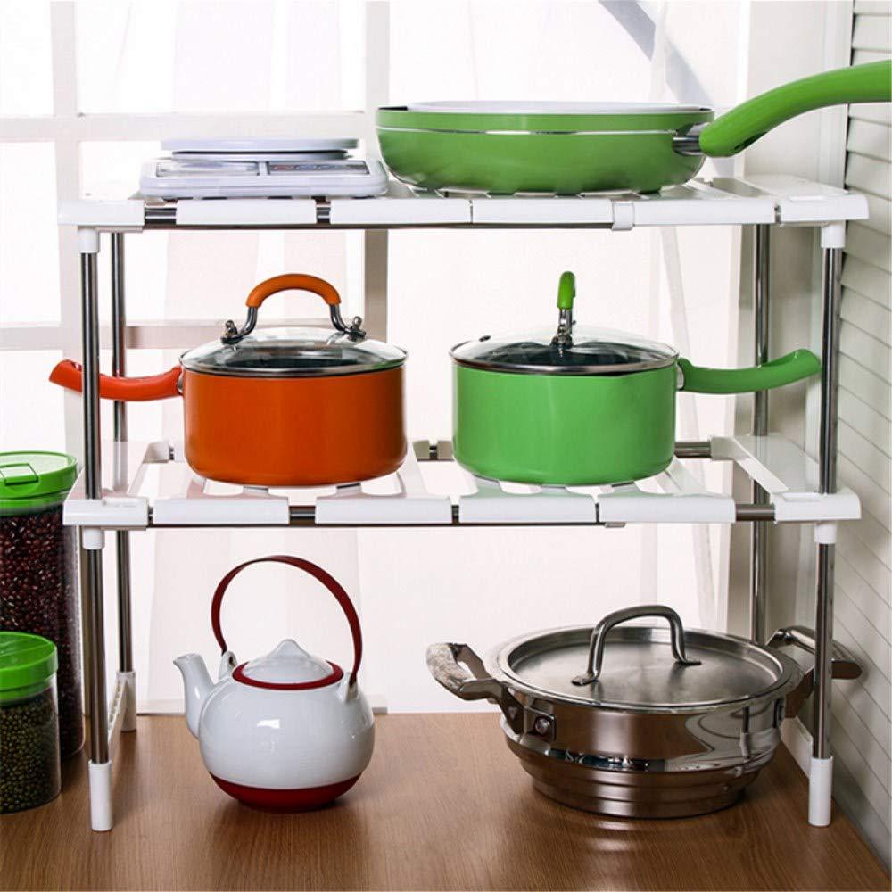 Adjustable Under Sink Storage Kitchen Shelf Organiser Extenable Multi-Purpose Bathroom Storage Organiser Tidy BP