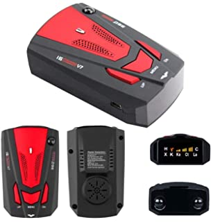 Radar Detector, V7 Voice Alert and Car Speed Alarm System with 360 Degree Detection,