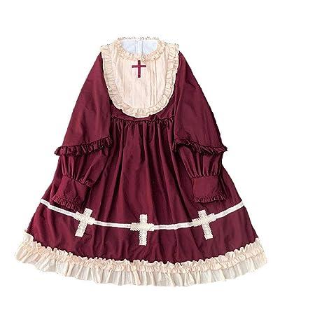 WDL-shop Vestido de Princesa Lolita con diseño gótico para Mujer ...