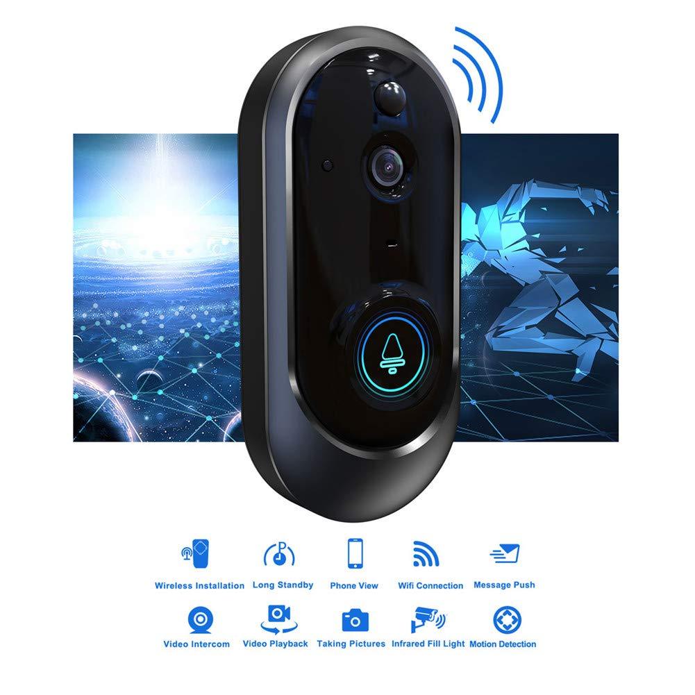 品質満点 ワイヤレスビデオドアベル、1080 P HD WiFiセキュリティカメラ、リアルタイムビデオおよび双方向トーク、166°広角PIRモーション検知、iSO Android GOLD用ナイトビジョン   B07QKSHVXD, USED SELECT SHOP Loop 41793534