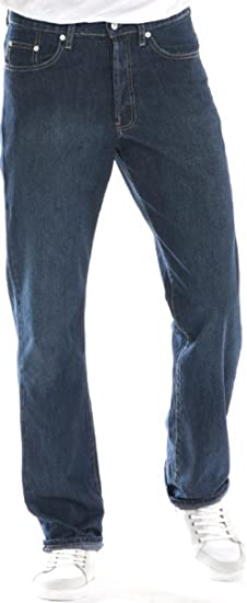 Big /& Tall Men/'s Denim Jeans Fixed Waist 44-66 Relaxed Fit by Full Blue