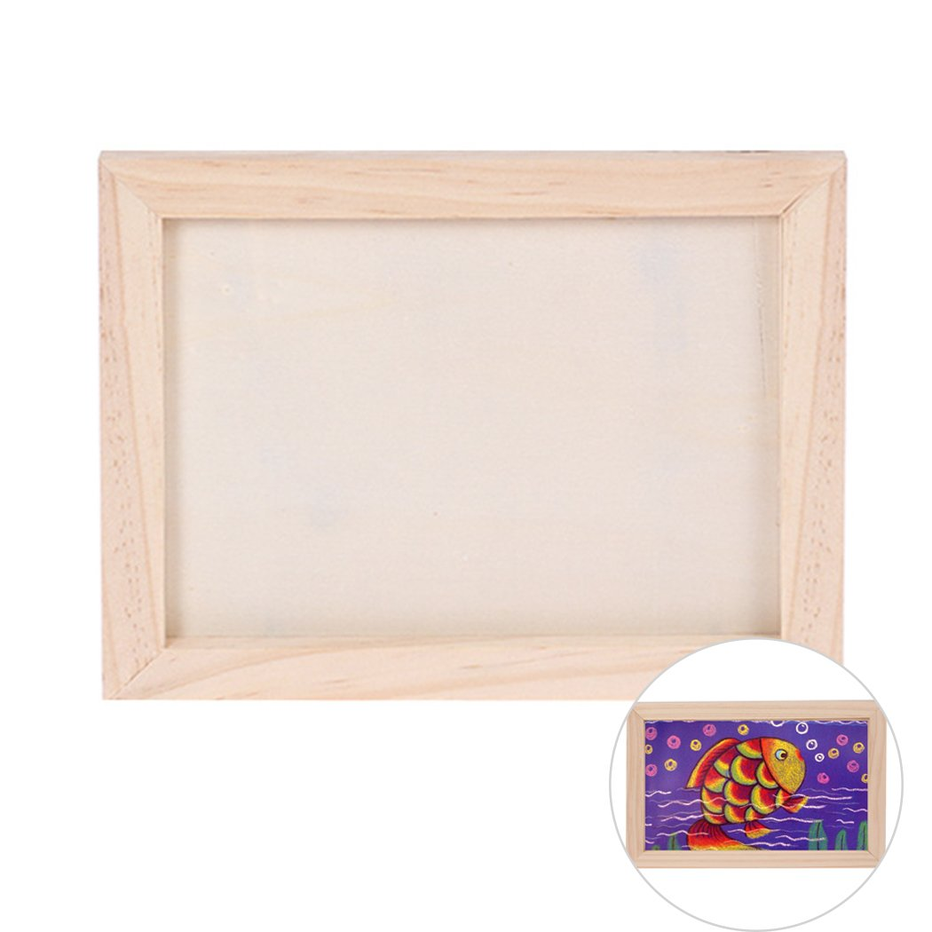 Coxeer DIY Picture Frame Unfinished Ready to Paint Wood Photo Frame for Wall Decor DIY Photo Frame