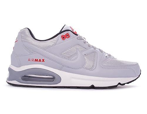 Nike - Zapatillas Deportivas Air Max Command PRM para Hombre - Modelo 694862, Gris Lobo/Gris Lobo-Negro-Rojo, 40.5: Amazon.es: Zapatos y complementos