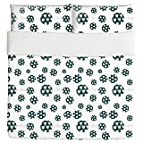 Soccer Duvet Bed Set 3 Piece Set Duvet Cover - 2 Pillow Shams - Luxury Microfiber, Soft, Breathable