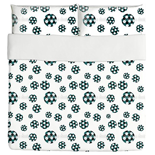 Soccer Duvet Bed Set 3 Piece Set Duvet Cover - 2 Pillow Shams - Luxury Microfiber, Soft, Breathable by uneekee