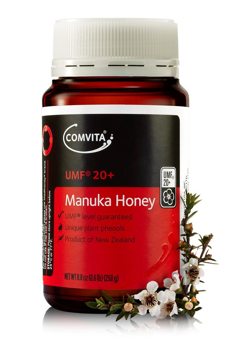 Comvita Certified UMF 20+ (Ultra Premium) Manuka Honey I New Zealand's #1 Manuka Brand I Non-GMO, Halal, and Kosher Certified I 250g (8.8oz) by Comvita