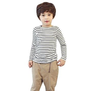 feiXIANG Ropa para niños Casual niño niño bebé niño bebé Camisa a ...