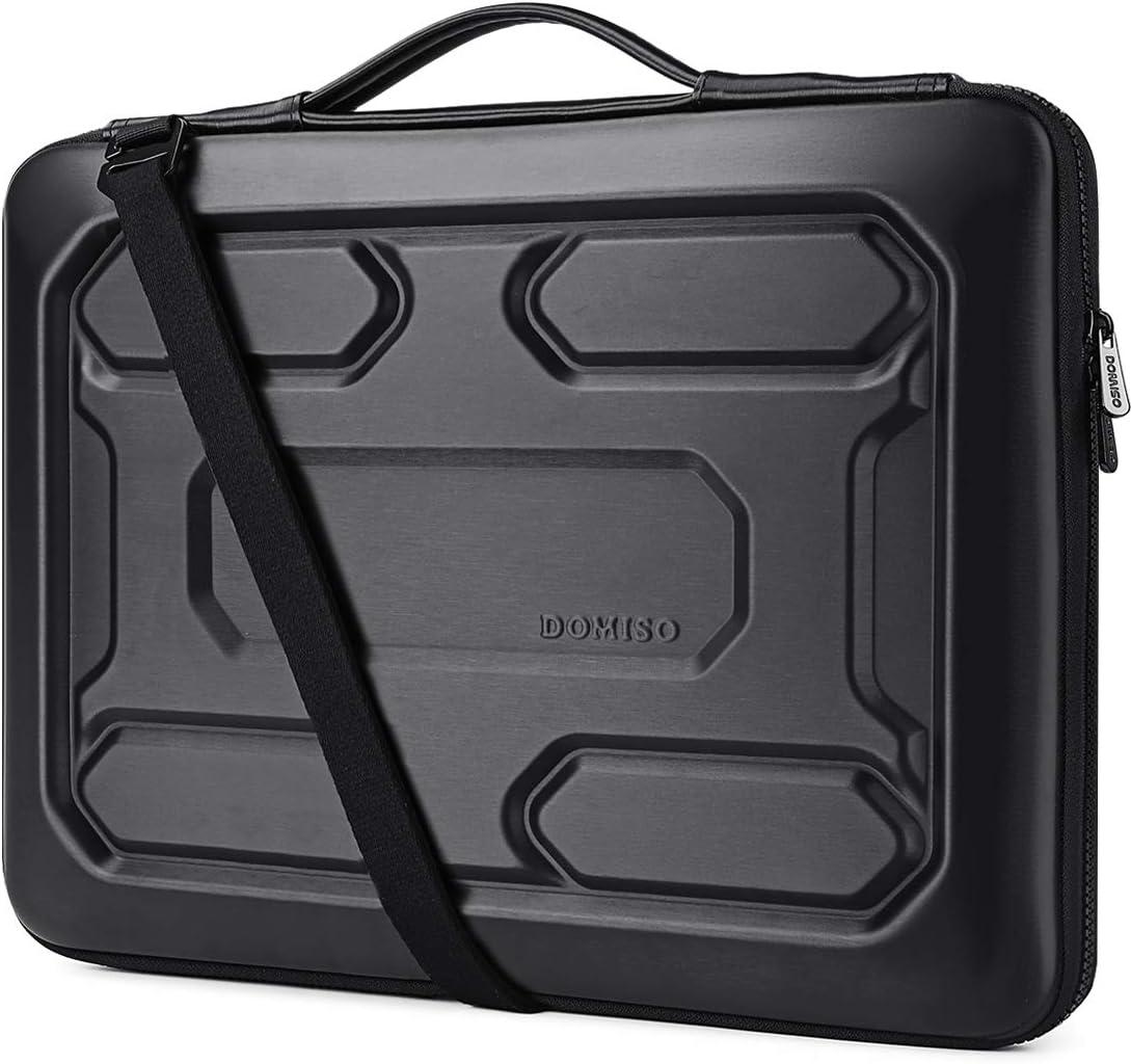 DOMISO 17 inch Laptop Sleeve Shoulder Bag Shockproof Waterproof EVA Protective Case for 17.3