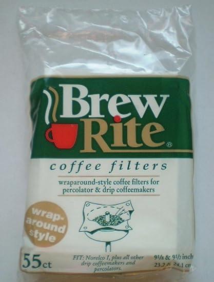 .com: brew rite wrap around percolator coffee filters 55 count ...