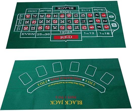 XCBW Mesa de Juego de Blackjack y Ruleta de Doble Cara, Tablero de Fieltro clásico, Mantel de Juego, tapete Extra Grande, Apartamentos: Amazon.es: Hogar