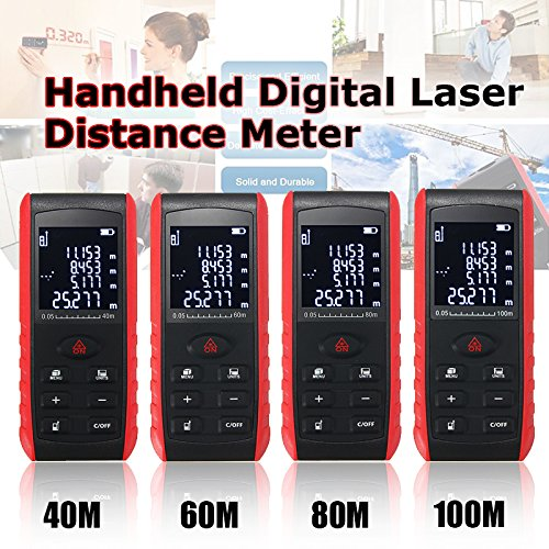 Digital Distance Meter Range Finder Measure Diastimeter 40m 60m 80m 100m by Thailand