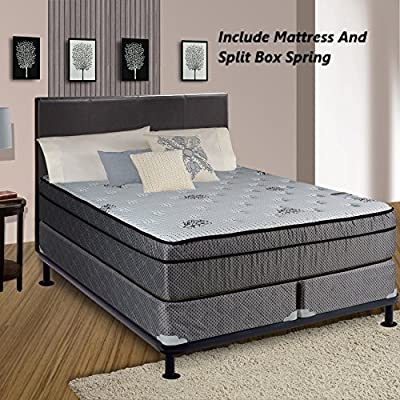 """Continental Sleep Fifth Ave Collection, Fully Assembled Mattress Set With 13"""" Soft Euro Top Orthopedic Twin Mattress and 8"""" Box Spring by Comfort Bedding USA LLC"""