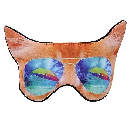 Máscara de dormir Jixing con correa ajustable para gato/perro, máscara de dormir para