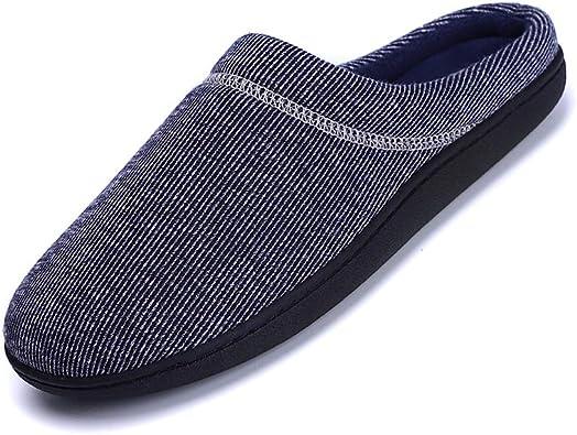 Men/'s Memory Foam Anti-Slip House Slippers Spring Summer Breathable Indoor Shoes