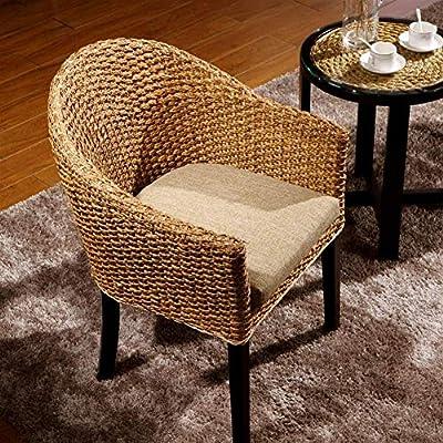 QQXX Silla de Mimbre Tejida a Mano, sillón BalconyLounge/para Uso, Patio de jardín/Invernadero de jardín Muebles para el hogar (tamaño: 62x62x88cm): Amazon.es: Hogar