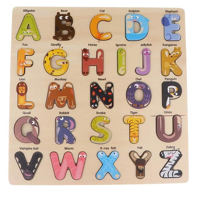 Amazon.com: Fityle - Pizarra de madera con diseño de letras ...