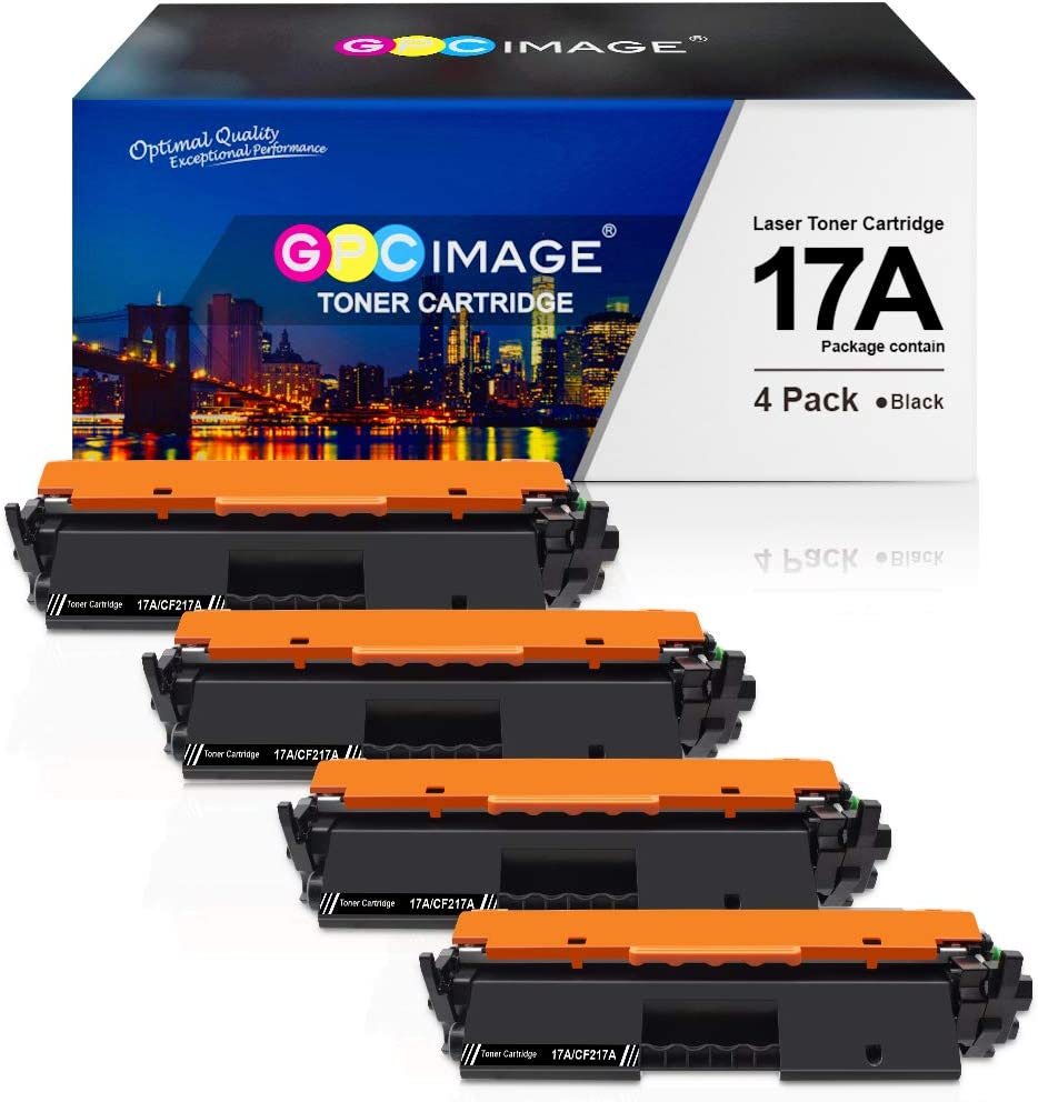 GPC Image Compatible Toner Cartridge Replacement for HP 17A CF217A for use in Laserjet Pro M102a M102w Laserjet Pro MFP M130nw M130a M130fn M130fw Series Printer (4 Black)